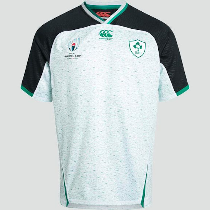Emerald green white Europa rugby shirt